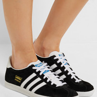 Adidas Originals - Gazelle suede and leather sneakers