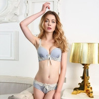 Ms. Butterfly lace sexy lingerie bra adjustable gather Bra Sets = 1753736900