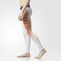 adidas Techfit Uncaged Cheetah-Print Tights - White | adidas US