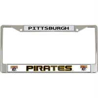 Pittsburgh Pirates Official MLB 12 inch x 6 inch Chrome License Plate Frame by Rico Industries