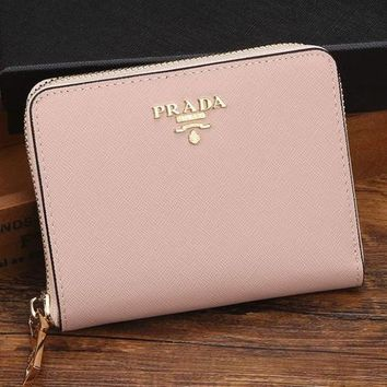 Prada Women Leather Zipper Wallet Purse-11