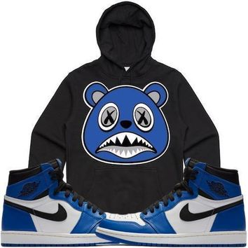 Royal Baws Black Sneaker Hoodie - Jordan 1 High OG Royal