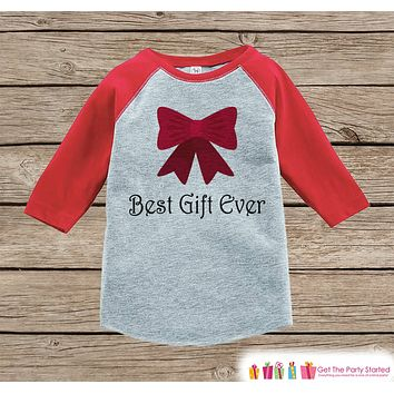 Kids Christmas Outfit - Best Gift Ever Christmas Shirt or Onepiece - Holiday Outfit - Boy Girl - Kids, Baby, Toddler, Youth