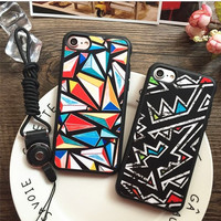 Hot Deal  iPhone 7/7p Cute Stylish On Sale Geometric Couple Apple Mirror Silicone Soft Iphone Phone Case [9077380996]