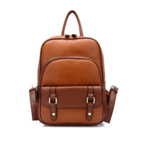 Women's Vintage Brown Leather Backpack Travel Bag Daypack