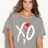 xo take care owl boxy ladies tshirt