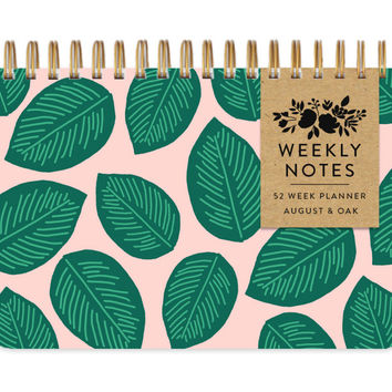 palm leaf weekly planner