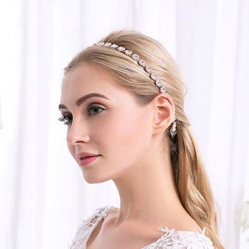 ac spbest Bridal jewelry hair band handmade alloy diamond hair accessories