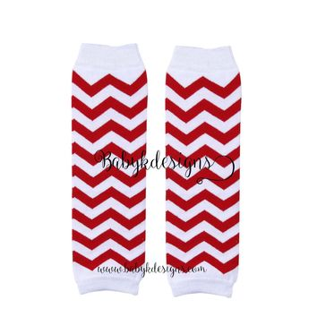 Baby Boys Girls Valentine RED n White Striped Leg Warmers. Baby Legwarmers.Grey n White Chevron Unisex Legwarmers / Teen Arm Warmer Socks