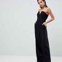 ASOS Jumpsuit with Structured Bodice and Wide Leg at asos.com