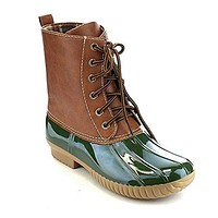 Women's Dylan Lace Up Rain Snow Winter Duck Boots