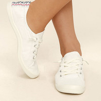 Madden Girl Baailey White Sneakers