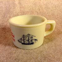 Old Spice Shaving Mug - The Grand Turk Salem 1786 - Tall Wooden Merchant Sailing Ship - Shulton