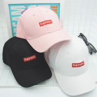SUPREME Embroidered Baseball Cap Hat