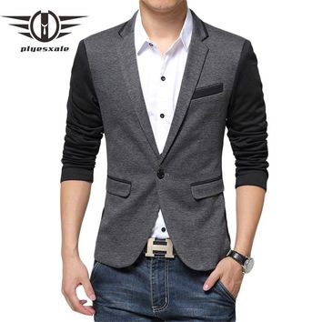 Patchwork Blazer Men Fashion Blazer Slim Fit Casual Suit Jacket Latest Coat Design