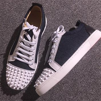 Christian Louboutin CL Low Style #2071 Sneakers Fashion Shoes Best Deal Online