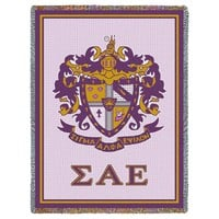 SIGMA ALPHA EPSILON AFGHAN THROW BLANKET