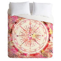 Bianca Green Follow Your Own Path Pink Duvet Cover
