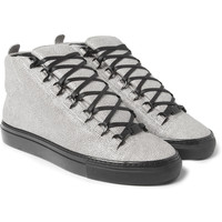 Balenciaga Arena Stingray-Print Leather Sneakers | MR PORTER