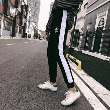 """adidas"" Women Fashion Leisure Running Pants Sweatpants"