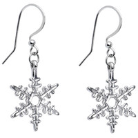 Holiday Winter Snowflake Earrings   Body Candy Body Jewelry