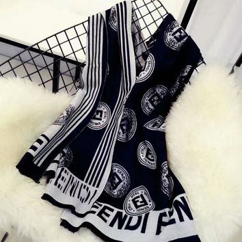 Day-First™ FENDI Women Fashion Winter Accessories Sunscreen Blanket Cape Scarf Scarves