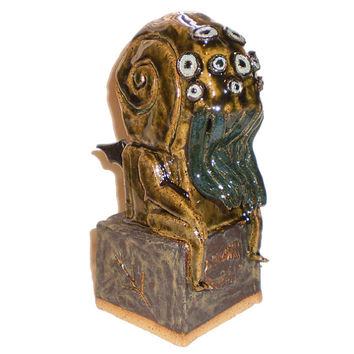 Seated Cthulhu Sculpture