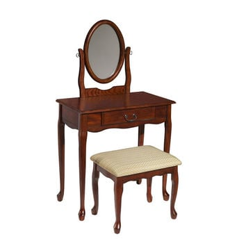 Woodland Cherry Vanity, Mirror & Bench at Brookstone—Buy Now!