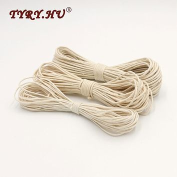 TYRY.HU Original 20 Meters DIY Rope Twisted Waxed Cotton Cord String Thread Line 1/1.5/1.8mm For Making Necklace Parcifier Chain