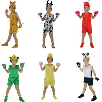 2017 Fashion Kids Children Short Animal Costume Stage Perfromance Cosplay Clothes Halloween Birthday Fancy Dress   Decoration