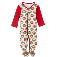 Baby Starters 3-9 Months Sock Monkey Footed Coverall | Dillards