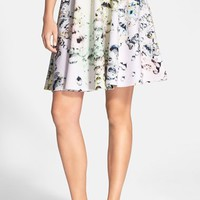 Women's Ted Baker London 'Seamer - Crystal Droplets' Print Neoprene A-Line Skirt,