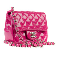 Chanel Patent Leather Pink Mini Flap Bag