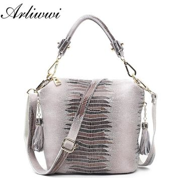 PROMOTION Designer Shiny Graceful Crocodile Grain Women's 100% Genuine Leather Embossed Cross Body Handbags*Free Shipping S0721