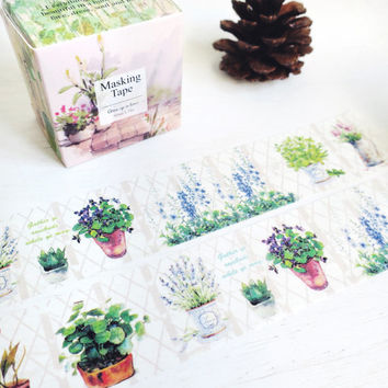 Garden Plants washi masking tape mt
