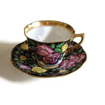 Rosina Bone China Tea Cup and Saucer Made In England 4861