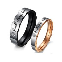 """Be With You"" SS Couples Rings - (C-RIN-1060)"