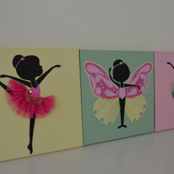 Hand Painted dancing Ballerinas