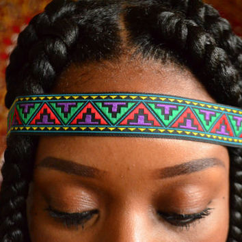 Natural Hair Jewelry: Aztec  Headband | Boho Headband | Hippie Headband