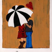 "Favorites print- umbrella print-""You are my favorite"" 8x10 Print"