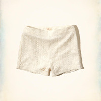 Girls Lace High Waist Shorts | Girls Clearance | HollisterCo.com
