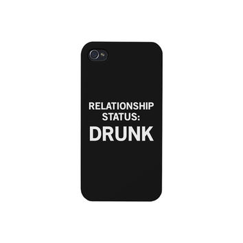 Relationship Status Black Cute Phone Case For iPhone 4 Funny Design