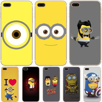 H444 Yellow Minion Transparent Hard Thin Case Cover For Apple iPhone XR XS Max 4 4S 5 5S SE 5C 6 6S 7 8 X Plus