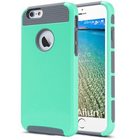 iPhone 6 Case,[4.7inch]by Ailun,Soft TPU Bumper&Hard Shell Solid PC Back,Shock-Absorption&Anti-Scratch Hybrid Dual-Layer Slim Cover,Siania Retail Package[Green]