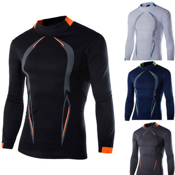 Winter Long Sleeve Casual Quick Dry Outdoors Gym T-shirts [6572732295]