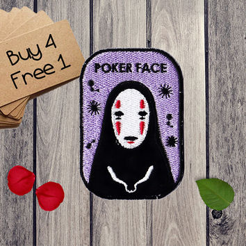 No Face Patches Spirited Away Patches Iron On Patch Applique Patches For Jackets