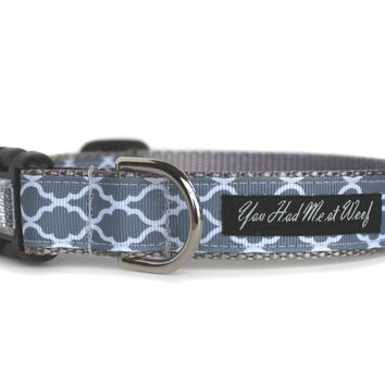 Cottage Trellis Dog Collar