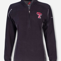 "Texas Tech Columbia ""Crosslite II"" Women's Black Half Zip Fleece"