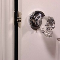 glass skull door knob - Google Search