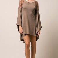 Fall-ing in Love Bell Sleeve Boho Dress - !